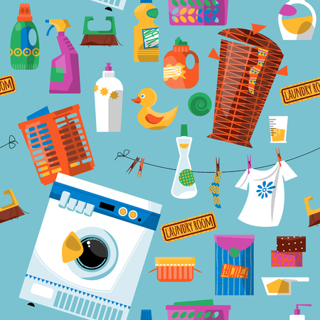 bleach: Laundry. Seamless background pattern.