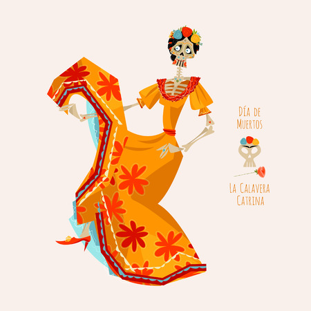 all souls day: Dancing skeleton