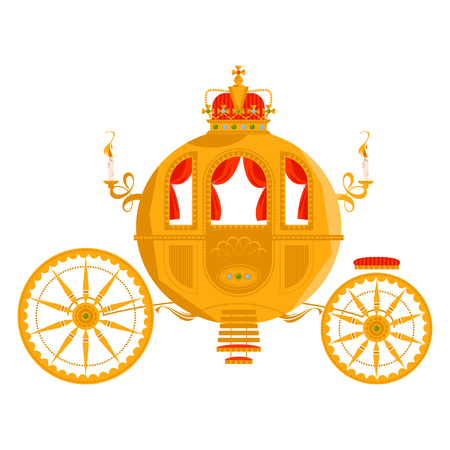 Princess Fantasy Carriage. Vector illustration. Vettoriali