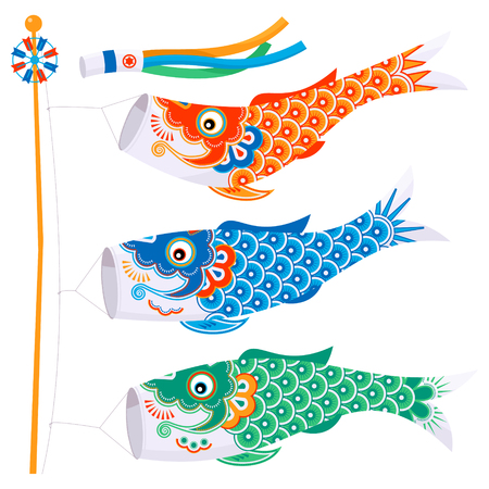 Koinobori (carp streamer).