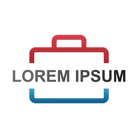 recruitment logo, logo looking for work, search job logo, suitcase company logo