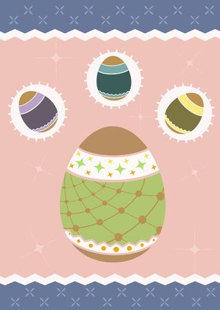 holiday celebrations: Illustration of an Easter egg for your design Illustration