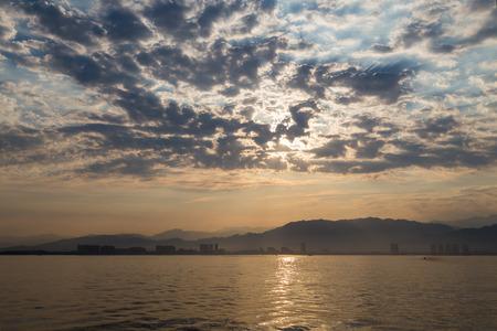 overcast: Overcast Sunrise Stock Photo