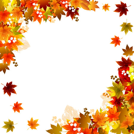 Beautiful Fall Background  Illustration