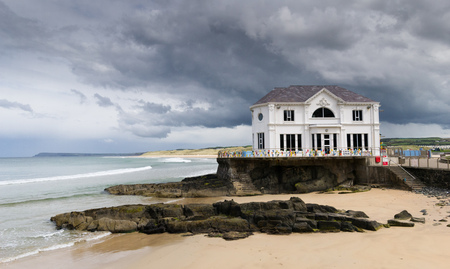 The historic Arcadia Ballroom, Portrush stands beneath stormy skies.