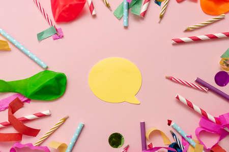 Colorful Party Collections, Flashy Celebration Stuff, Bright Festival Kit, Surprise Birthday Bash Dinner, Wedding Anniversary Banquet, Post Graduation Ceremony, Reklamní fotografie