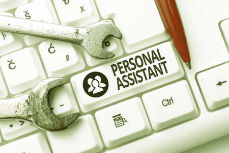 Sign displaying Personal Assistant. Business concept administrative assistant working exclusively for a person Internet Browsing And Online Research Study Doing Maintenance And Repairs