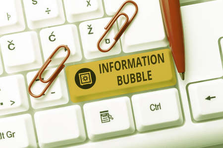 Writing displaying text Information Bubble. Business showcase phenomenon that limits an individual s is exposure Typing Online Tourist Guidebook, Searching Internet Ideas And Designs
