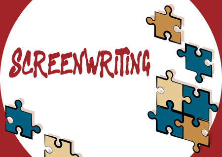 Hand writing sign Screenwriting. Business approach the art and craft of writing scripts for media communication Creating New Computerized Filing System, Filling Online Documentations