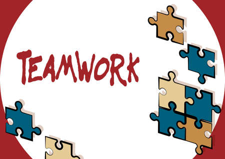 Text showing inspiration Teamwork. Concept meaning the group s is collaborative effort to accomplish a common goal Creating New Computerized Filing System, Filling Online Documentations