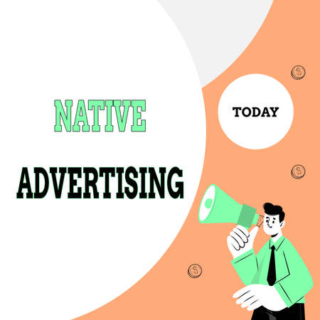 Text sign showing Native Advertising. Business approach paid media where the ad experience follows the usual form Abstract Displaying Different Typing Method, Keyboard Data Processing Фото со стока