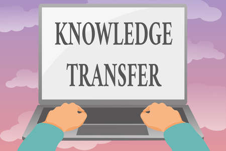 Writing displaying text Knowledge Transfer. Business idea sharing or disseminating of knowledge and experience Editing And Formatting Online Articles, Typing Creative Reading Contents