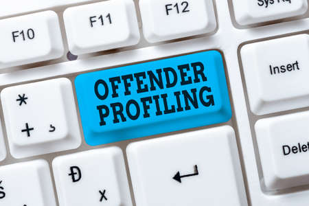 Inspiration showing sign Offender Profiling. Business overview Develop profiles for offenders who not yet apprehended Setting Up New Online Blog Website, Typing Meaningful Internet Content Reklamní fotografie