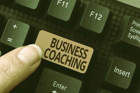 Text showing inspiration Business Coaching. Business showcase providing support and occasional advice to an individual Abstract Reasearching Old Online Articles, Creating Copies Of Previous Data