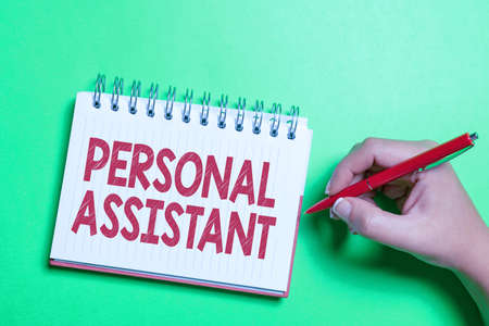 Hand writing sign Personal Assistant. Conceptual photo administrative assistant working exclusively for a person Brainstorming Problems And Solutions Asking Relevant Questions Stock fotó