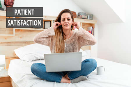 Writing displaying text Patient Satisfaction. Word for measure of the extent to which a patient is content Reading Interesting Articles Online, Solving Internet Problems