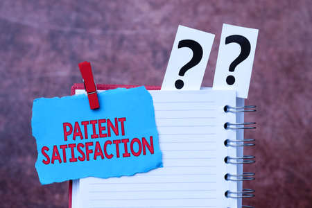 Conceptual caption Patient Satisfaction. Conceptual photo measure of the extent to which a patient is content Brainstorming The New Idea Of Solutions And Answers Seeking More Clues