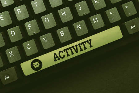 Writing displaying text Activity. Word for the condition where many things are happening or move around Downloading Documents Concept, Uploading And Posting New Files To Internet