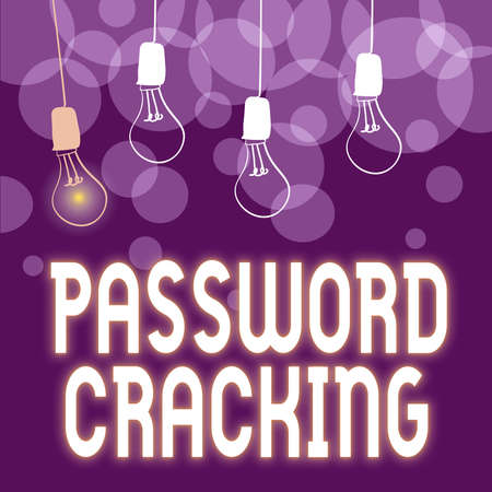 Inspiration showing sign Password Cracking. Business showcase measures used to discover computer passwords from data Abstract Displaying Different Ideas, Lights Presenting Intellect Concept