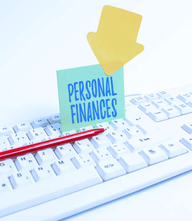 Inspiration showing sign Personal Finances. Business overview the activity of managing own money and financial decisions Computer Laptop For Communication Typing New Ideas And Plan Development