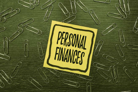 Sign displaying Personal Finances. Word Written on the activity of managing own money and financial decisions Bright New Ideas Fresh Office Design Work Problems And Solutions
