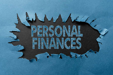 Inspiration showing sign Personal Finances. Word for the activity of managing own money and financial decisions Thinking New Writing Concepts, Breaking Through Writers Block