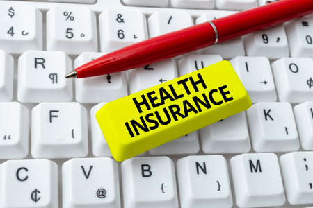 Inspiration showing sign Health Insurance. Business approach reimburse the insured for expenses incurred from illness Creating New Programming Guidebook, Typing Program Source Codes