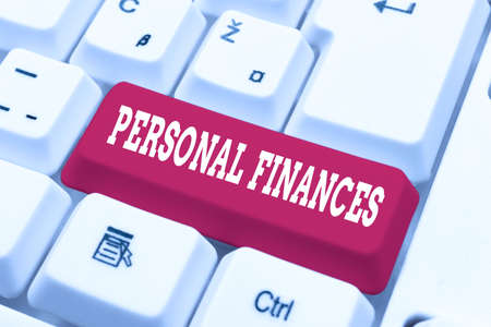 Text showing inspiration Personal Finances. Business showcase the activity of managing own money and financial decisions Fixing Internet Problems Concept, Sending Error Report Online