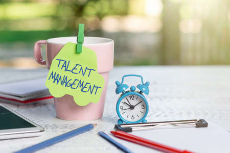 Text caption presenting Talent Management. Business concept anticipation of required human capital for an organization Outdoor Coffee And Refresment Shop Ideas, Cafe Working Experience Stock Photo