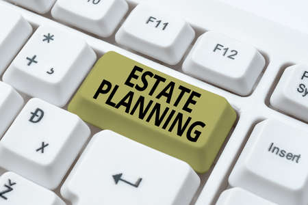Inspiration showing sign Estate Planning. Business approach The management and disposal of that person s is estate Online Documentation Ideas, Uploading Important Files To The Internet Stock fotó