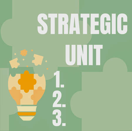 Inspiration showing sign Strategic Unit. Conceptual photo profit center focused on product offering and market segment. Abstract Brainstorming Problem And Solution, Careful Thinking Concept