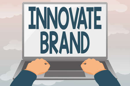 Conceptual display Innovate Brand. Business overview significant to innovate products, services and more Editing And Formatting Online Articles, Typing Creative Reading Contents