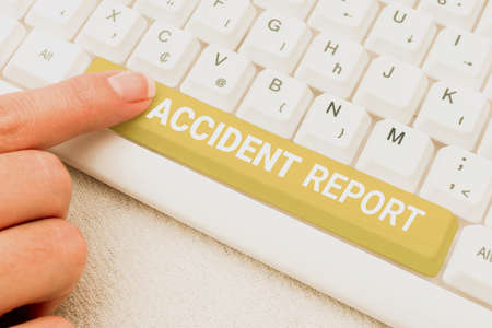 Hand writing sign Accident Report. Business idea A form that is filled out record details of an unusual event Connecting With Online Friends, Making Acquaintances On The Internet