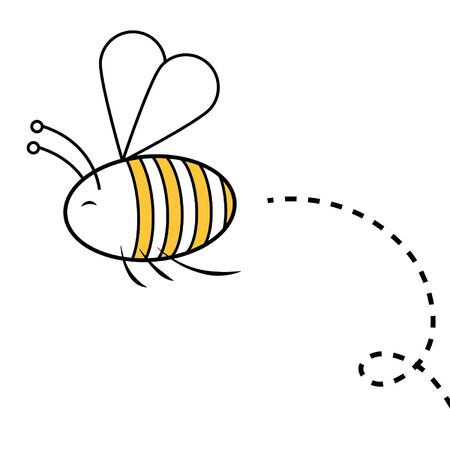 Flying bee Ilustrace
