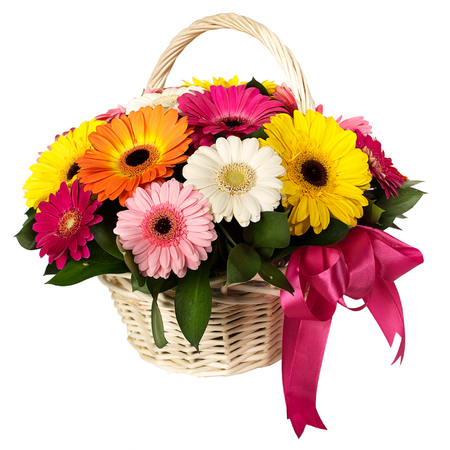 basket of flowers Stock Photo