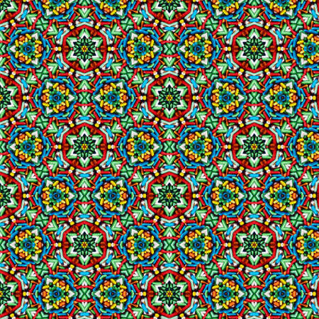 Colorful candy seamless pattern created from real picture of sugar coated candy pills with kaleidoscope effect. Very high resolution at 5000 by 5000 pixel Reklamní fotografie