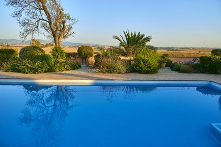 swimming pool deep blue