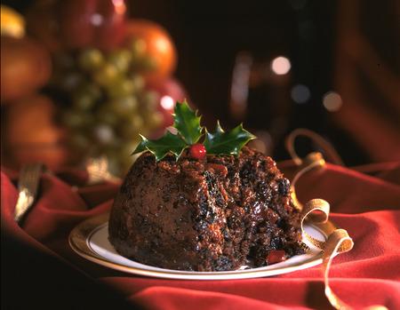 Weihnachtspudding Standard-Bild - 83671283