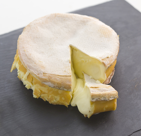 pont l'eveque french cheese on slate