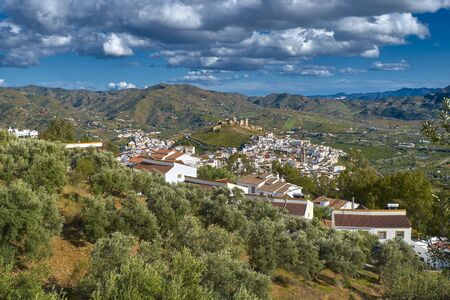 view of Alora Spanish hillside town