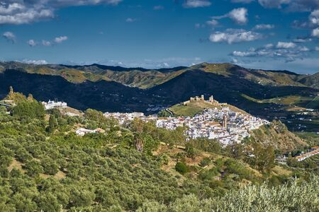view of Alora from the hills