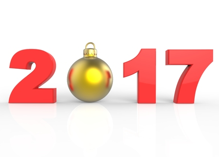 Happy New Year and Christmas Stock Photo