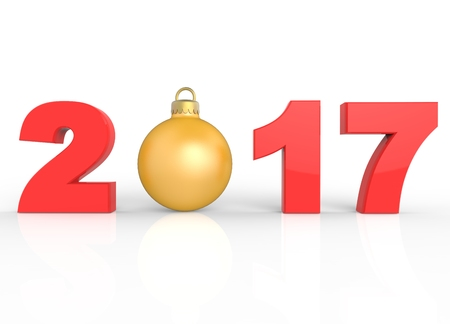 happy christmas: Happy New Year and Christmas Stock Photo