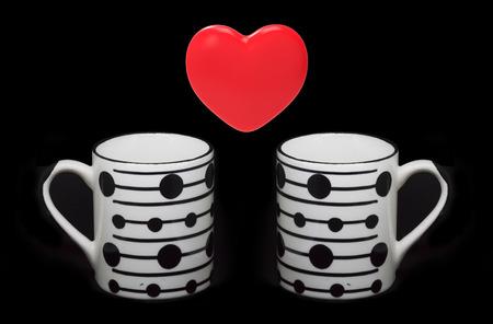 bebes niñas: Heart symbol and coffee cups