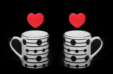 Cups and Heart shapes