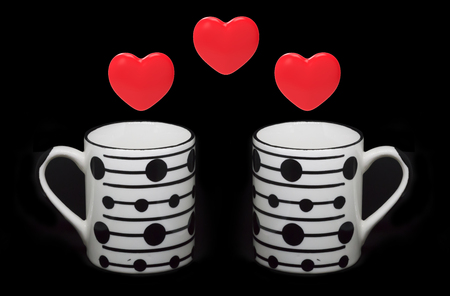 Heart shapes and cups