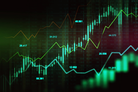 Stock market or forex trading graph in graphic concept suitable for financial investment or Economic trends business idea and all art work design. Abstract finance background 版權商用圖片
