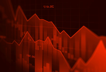 Down trend Stock market or forex trading graph in graphic concept suitable for financial investment or Economic trends business idea and all art work design. Abstract finance background