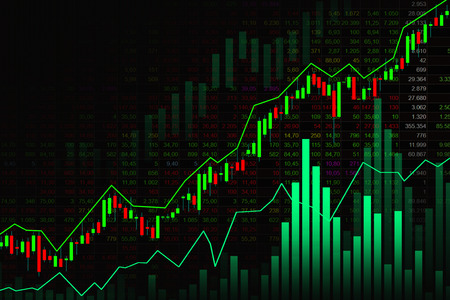 Stock market or forex trading graph in graphic concept suitable for financial investment or Economic trends business idea and all art work design. Abstract finance background Stock Photo