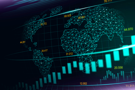 Stock market or forex trading graph in futuristic concept suitable for financial investment or Economic trends business idea and all art work design. Abstract finance background Stock Photo